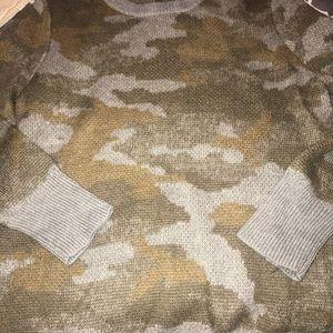 Army green camo sweater